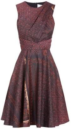 Prabal Gurung Print Pleat Waist Dress