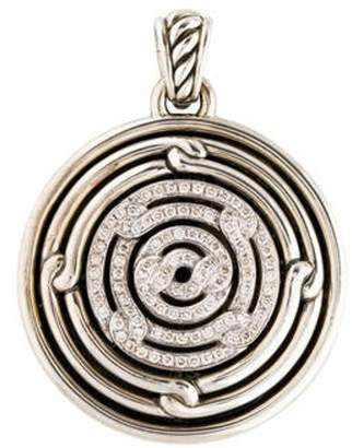 David Yurman 1.05ctw Diamond Labyrinth Small Disc Pendant silver 1.05ctw Diamond Labyrinth Small Disc Pendant