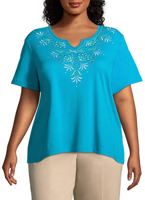 Alfred Dunner Scottsdale Scroll Embroidered Tee - Plus