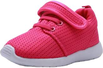 DADAWEN Girl's Boy's Breathable Light Weight Lace-Up Running Shoes Sneakers(Toddler/Little Kid) - 7 US