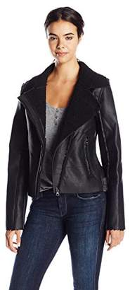 Madden Girl Women's Faux Shearling Moto Jacket $55.99 thestylecure.com