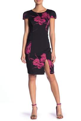 Betsey Johnson Vintage Print Scuba Midi Dress