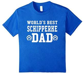 World's Best Schipperke Dad Dog Lover Pawprint T-Shirt
