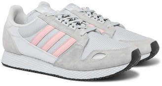 adidas ZX 454 SPZL Suede, Nylon and Mesh Sneakers - Men - Gray