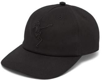 Alexander McQueen Dancing Skeleton Embroidered Baseball Cap - Mens - Black