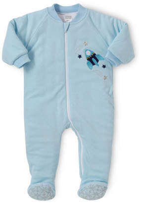 Snugtime NEW Padded Cotton Sleepsuit Blue