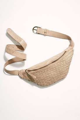 N. Cut Paste Woven Crossbody Belt Bag