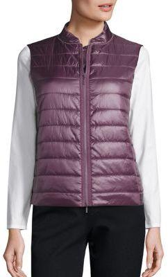Lafayette 148 New York Combo Elara Vest $298 thestylecure.com