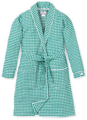 Petite Plume Gingham Flannel Robe, Size 2-14