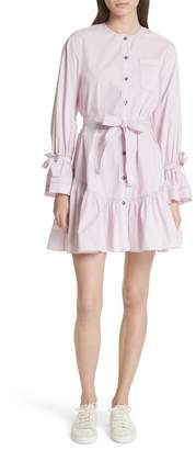 Rebecca Taylor Ruffled Poplin Shirtdress