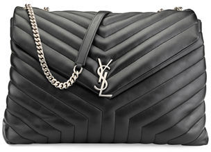 Saint Laurent Monogram Y-Quilted XL Slouchy Chain Shoulder Bag $2,550 thestylecure.com