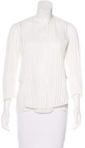Christian Dior Structured Long Sleeve Top