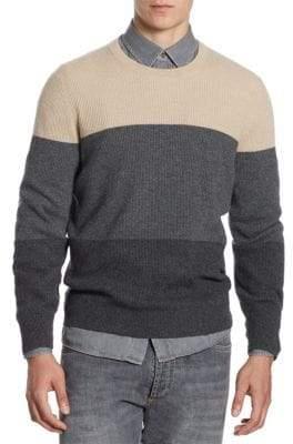 Brunello Cucinelli Colorblock Cashmere Sweater