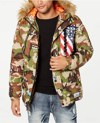 Reason Men's Camo Aviation Puffer Jacket