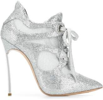 Casadei glitter panelled booties