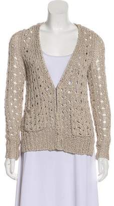 Veronica Beard Knit V-Neck Cardigan