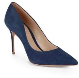 Schutz Point-Toe Suede Pumps