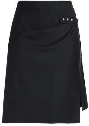 Paco Rabanne Asymmetric Wool Mini Skirt
