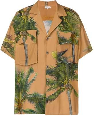 Duo palm tree print oversized shirt
