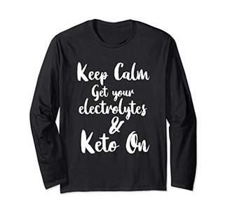 Keto Electrolytes Keep Calm and Keto On Womens Tshirt