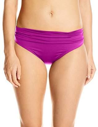 Jantzen Women's Solid Shirred Waist Bikini Bottom