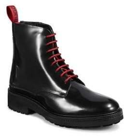 HUGO Impact Logo Leather Boots