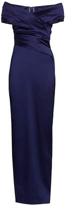 Talbot Runhof Off-The-Shoulder Stretch Satin Duchess Gown