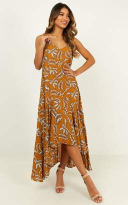 Showpo Missing The Sun dress in mustard floral - 8 (S) Casual Dresses
