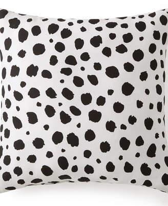 "Colcha Linens Animal Spots Black & White Square Cushion 18""x18"" Bedding"