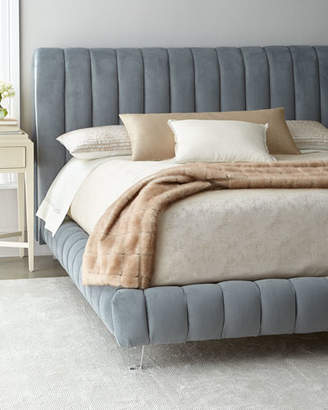 Haute House Amal Channel-Tufted Queen Platform Bed