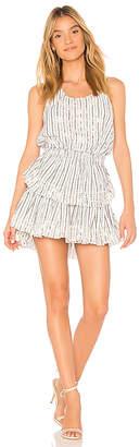 LoveShackFancy Ruffle Racer Mini Dress