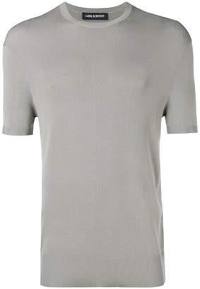 Neil Barrett knitted stripe T-shirt