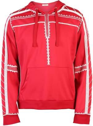 Valentino Red Embellished Sweatshirt