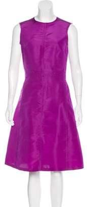 Lanvin Silk Sleeveless Midi Dress