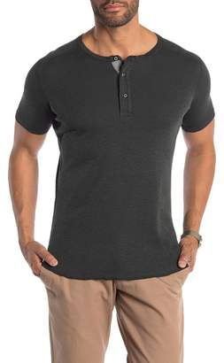 WINGS AND HORNS Short Sleeve Henley Tee