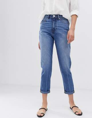 Asos Design DESIGN Recycled Ritson rigid mom jeans in mid vintage wash