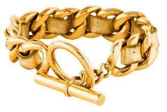 Chanel Leather Curb chain Bracelet