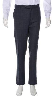 Canali Plaid Wool Dress Pants