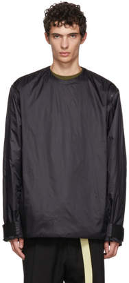 Oamc Black Transmission Zip-Off Sleeve Sweatshirt