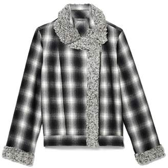 Vince Camuto Plaid Flannel & Faux Shearling Jacket