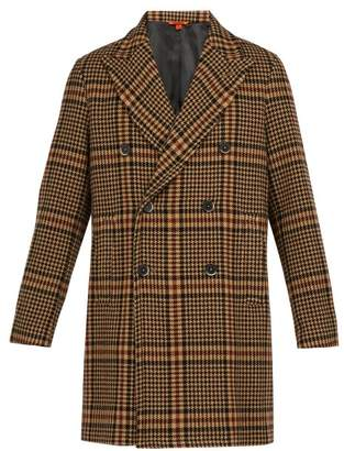 Barena Venezia - Patrone Checked Wool Blend Overcoat - Mens - Brown Multi