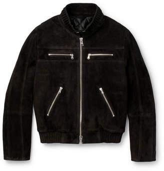 Ami Appliquéd Suede Jacket