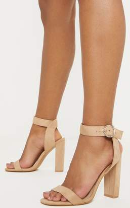 PrettyLittleThing Snake Ring Buckle Block Heel Sandal