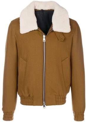 Ami Alexandre Mattiussi Zipped Jacket Shearling Collar