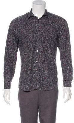 Paul Smith Floral Print Button-Up Shirt
