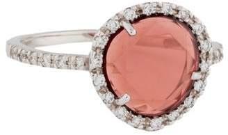 Pomellato 18k Garnet & Diamond Colpo Di Fulmine Cocktail Ring