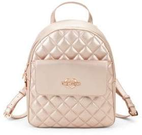 Love Moschino Quilted Metallic Faux Leather Backpack