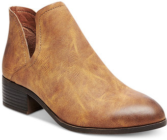 Madden Girl Zavier Chop-Out Ankle Booties $59 thestylecure.com