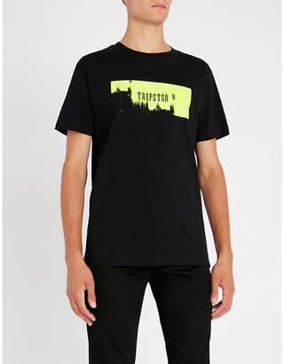 Trapstar Highlight-print cotton-jersey T-shirt