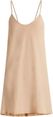 SKIN Scoop-neck pima-cotton jersey slip dress